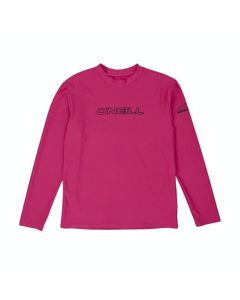 O'Neill Youth Basic Skins L/S Rash Tee, Watermelon 4341