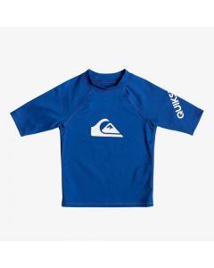 Quiksilver All Time Kid SS Rash Vest - Blue