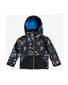 Quiksilver Little Mission Jacket  Black Snow Party Age 1-7