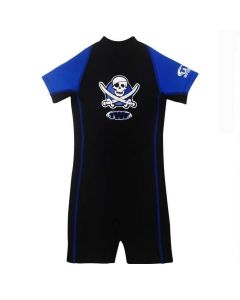 Boys Pirate Shortie 2mm Wetsuit, Blue/Black