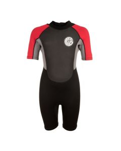 Saltrock Kids 3/2 Core Shortie BZ Wetsuit - Black/Red