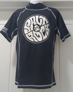 Saltrock Kids Short Sleeve Rash Vest - Black