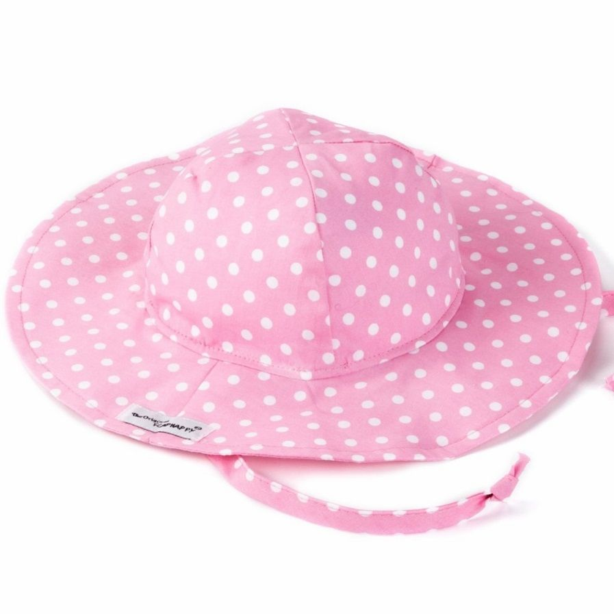 Flap Happy Floppy Hat, Pink Dot, 6/12 mths only save 40%