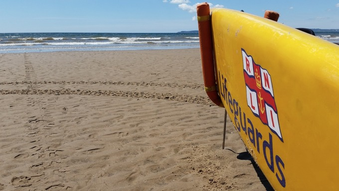 RNLI Life Guarded  Beaches