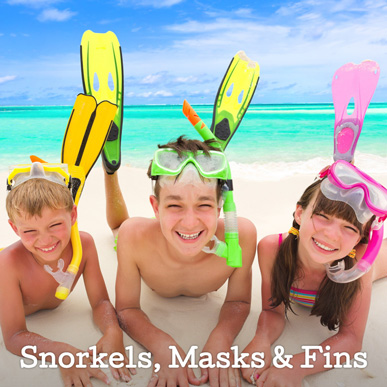 Childrens Snorkels, masks & Fins